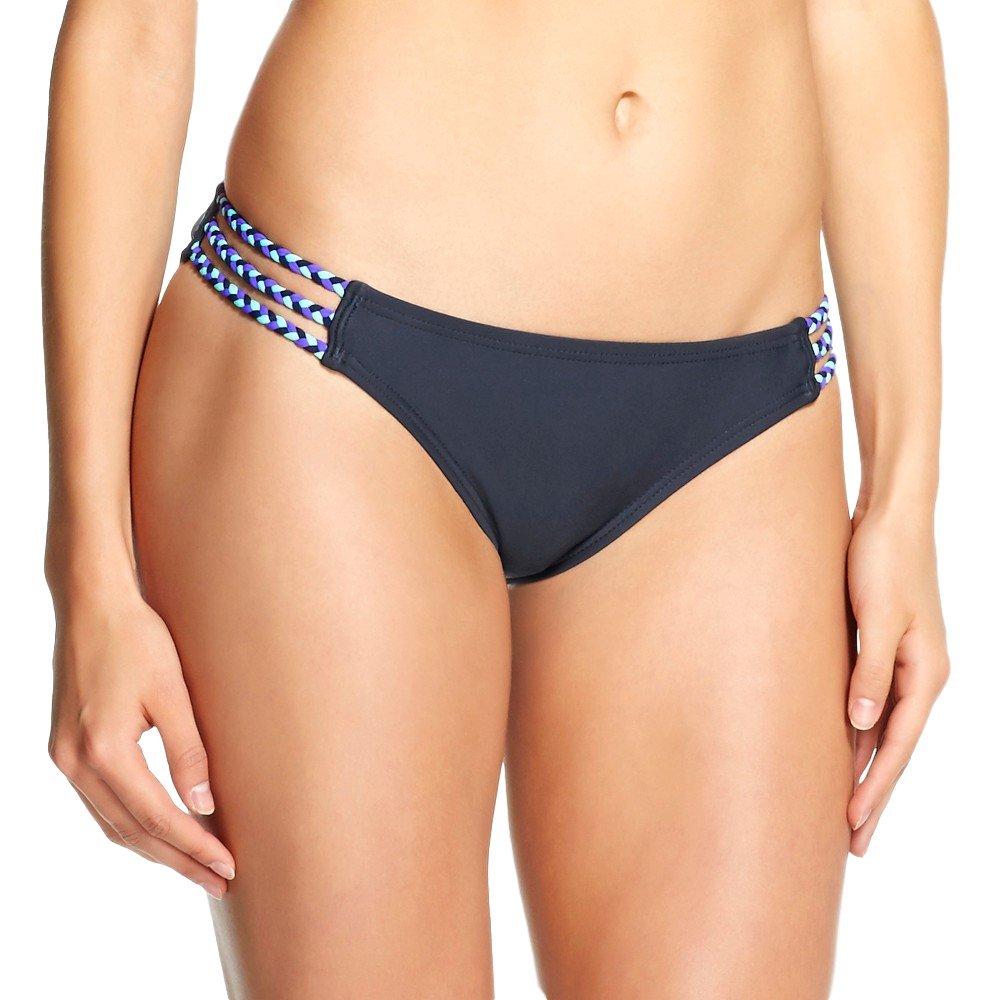 マスクされたブランドMossimo Women 's Braided Hipster Bikini Bottom B072DWZN13 XL スレートグレー