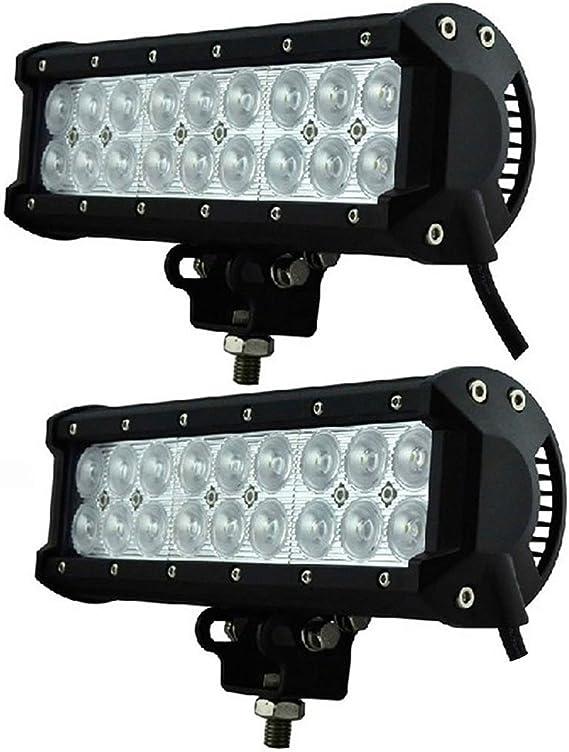 2 X Led Auto Beleuchtung Arbeitslampe Zweireihige Led Lichtleiste Dachstrahler Superhelle Off Road Lichter Modifizierte Lichter Schwarze Flutlichter Größe 216 X 73 X 107 Mm Auto