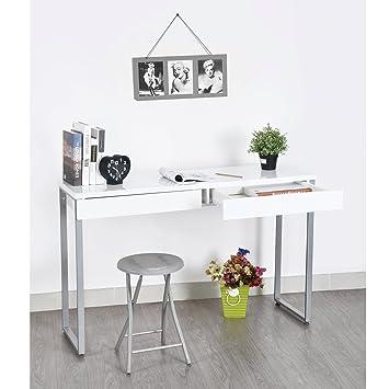 FurnitureR, tavolo consolle in legno dal design unico, ideale per  l\'ingresso o come tavolino da salotto, dotato di cassetti, adatto a  molteplici usi