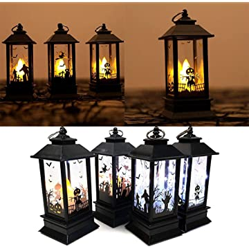 Detailorpin Halloween Simulation Flame Light Portable LED Night Light Lighthouse Decorative Props