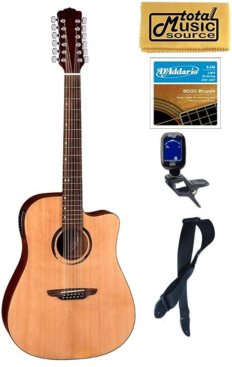 Luna Wabi Sabi Dreadnought Cutaway - Guitarra de 12 cuerdas ...