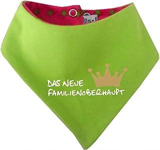 KLEINER FRATZ mitwachsendes Baby - und Kinder Wende - Halstuch mit Sternchen - Neues Familienoberhaupt/in 4 Designs/Größen 0-36 Monate