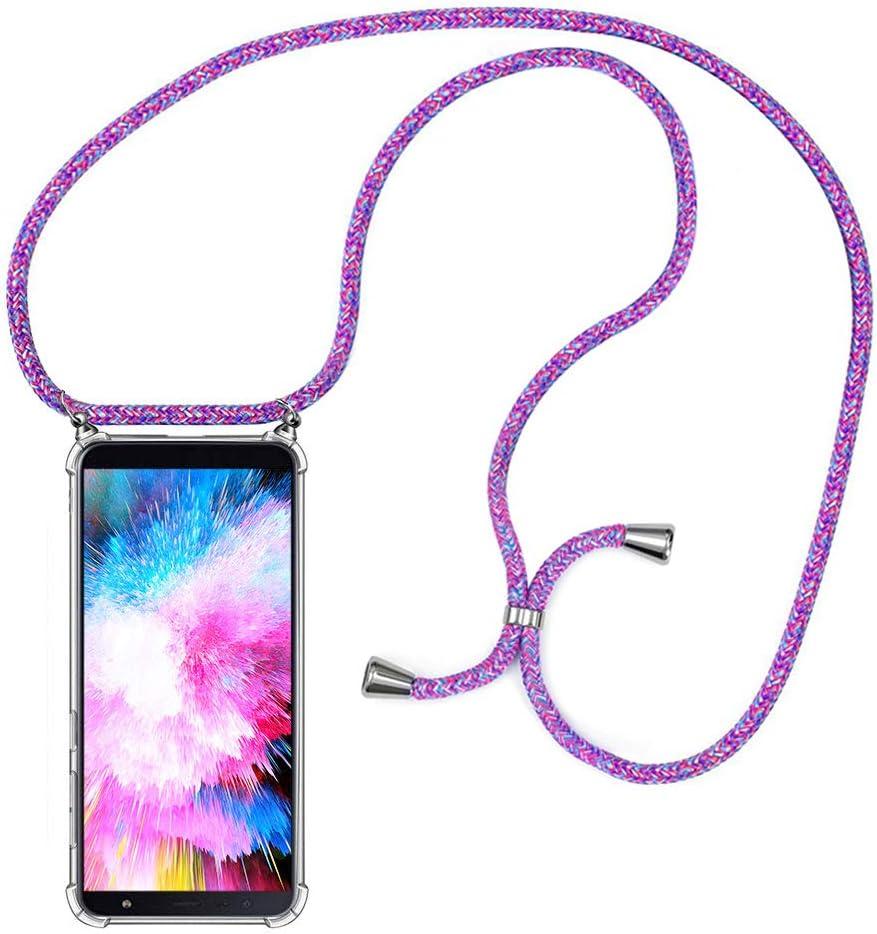 MXKOCO Carcasa de movil con Cuerda para Colgar Samsung Galaxy J6 ...