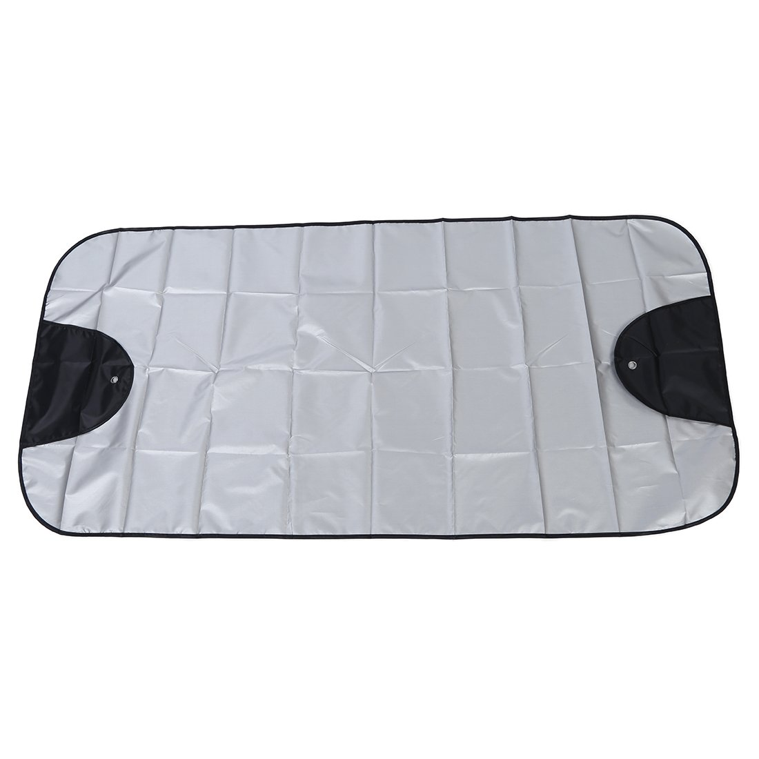 Car Windscreen Cover - SODIAL(R)Car Windscreen Cover Winter Anti Snow Frost Ice Shield Dust Protector Sun Shade Silver&Black SODIAL (R) 068417