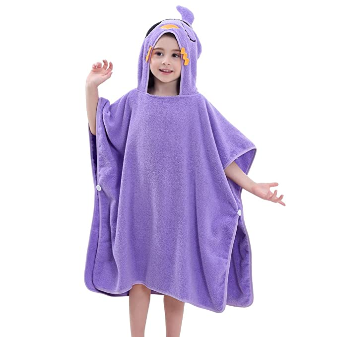 Lilac and Purple Bath Towel Beach towel Kids hooded towel. your choice Hooded Towel Poncho Boy or Girl print Personalized