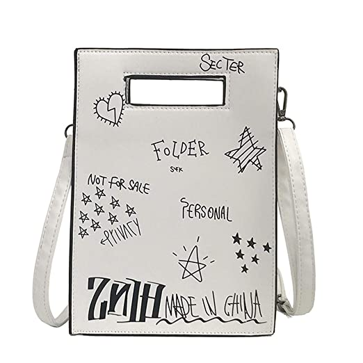 37195d5cda23 Amazon.com: Creative Graffiti Shoulder Bags Leather Women Messenger ...