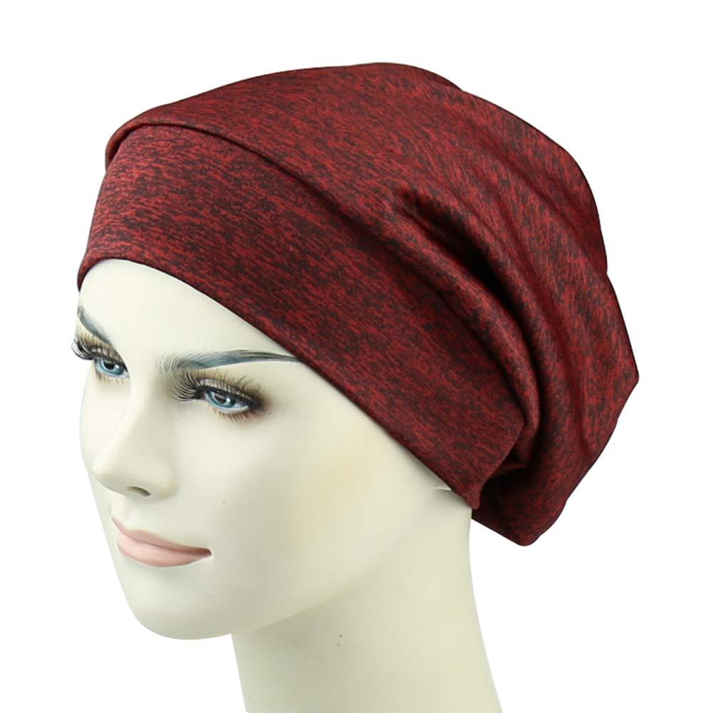 Silky Satin Lined Slouchy Sleep Cap Slap Beanie Hat Frizzy Headwear Breathable Bamboo Viscose Hats