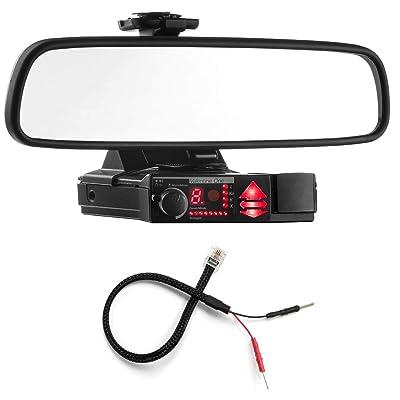 Radar Mount Mirror Mount Bracket + Mirror Wire Power Cord - Valentine V1 Radar Detector: Radar Mount: Car Electronics