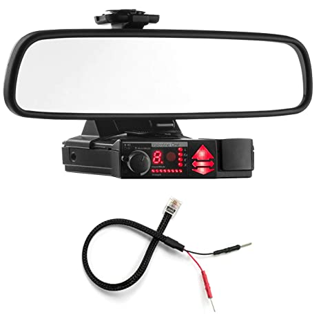 amazon com: radar mount mirror mount bracket + mirror wire power cord -  valentine v1 radar detector: radar mount: car electronics
