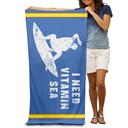 Necesito vitamina mar Surf Verano – Toallas de playa toalla de baño de toalla de viaje