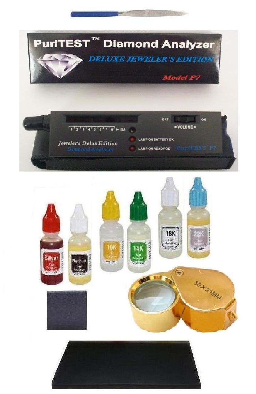 Pro Appraisal Kit & Scrap Jewelry Organizer Gold/Silver Tester, Diamond Testing Machine, Needle File by PuriTEST