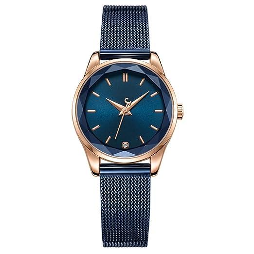 Reloj para mujer a prueba de agua 2018 Reloj para correa de acero a nueva moda Casual Atmósfera: Amazon.es: Relojes