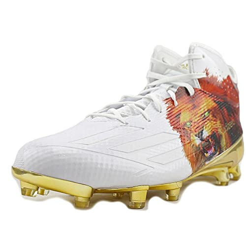 size 40 19fc2 d77ab adidas Adizero 5Star 5.0 Mid Uncaged Mens Football Cleat 12 Lion-White-Gold  Met