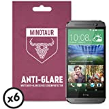 HTC One M8 (2014) Screen Protector Pack, Matte Anti Glare by Minotaur (6 Screen Protectors)