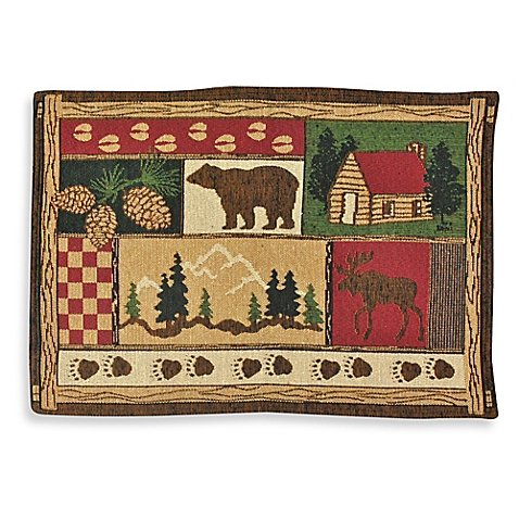 - Richly-Colored Protects Your Tabletop Log Cabin Placemat