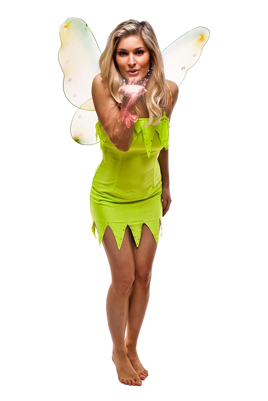 fdc tinkerbell neverland fairy peterpan fancy dress costume tinkerbell size