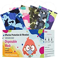 Kids Disposable Face Mask ,Cute Cartoon Colorful Printed Dust Masks ,Childrens Safety Masks for Girls Boys
