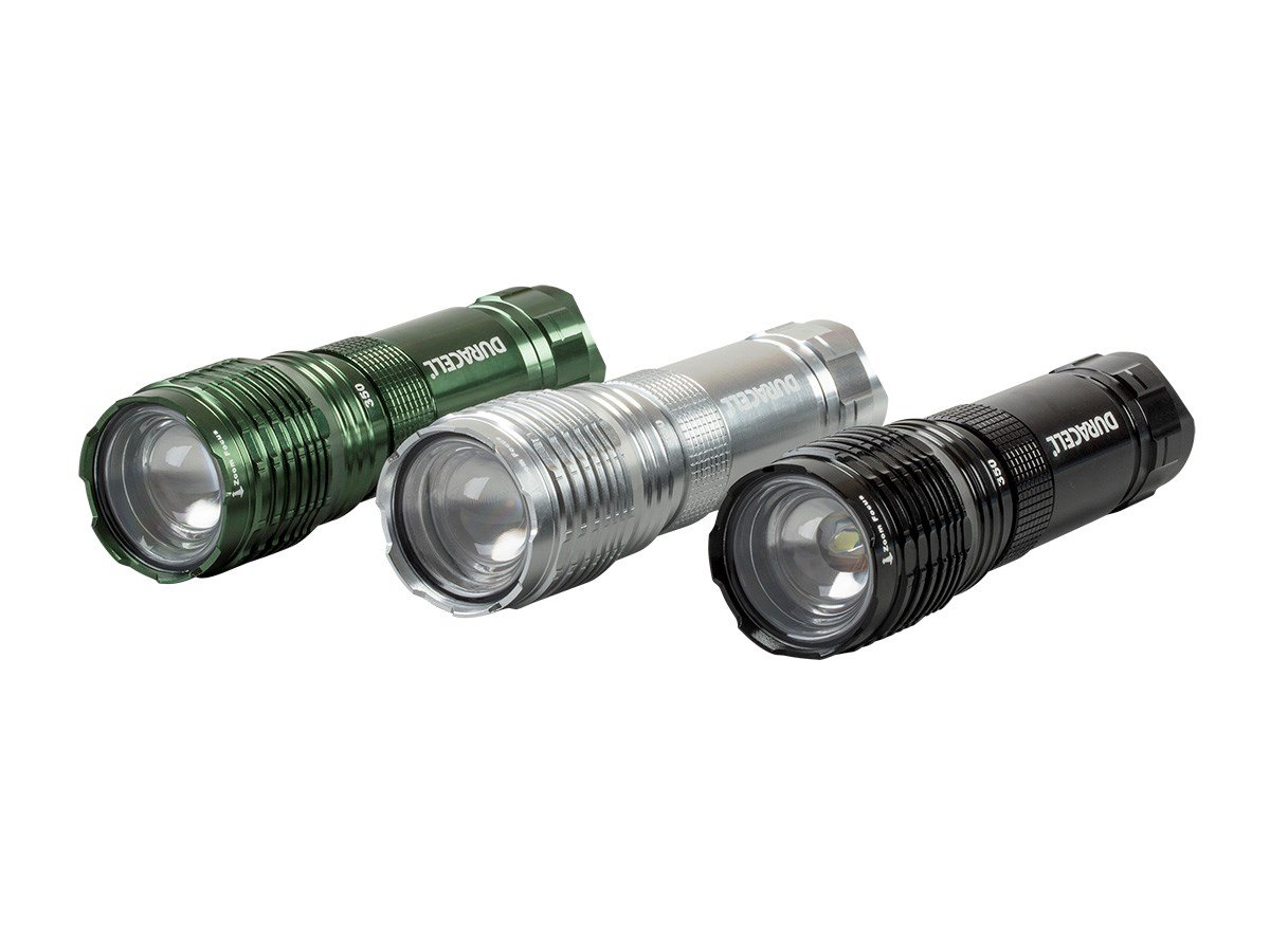 Duracell 350 Lumen Flashlight with Zoom 4AAA (Batteries Included) 3 Pack