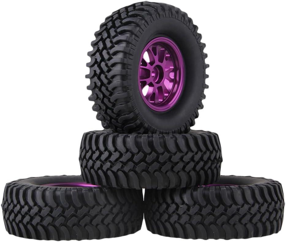 mxfans RC 1: 10 negro 100 mm OD de goma neumáticos + llantas ...
