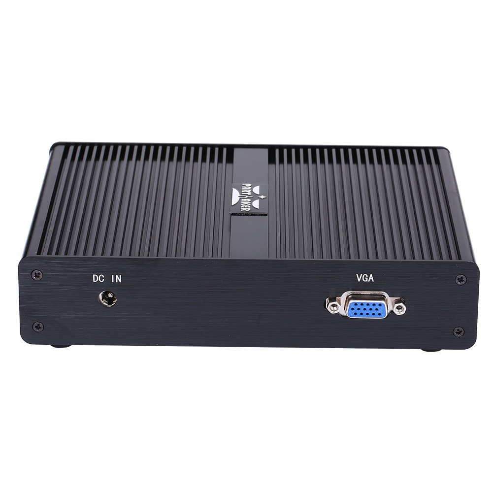 2.5 HDD I6 Partaker Fanless Mini PC Mikrotik Pfsense Firewall Network Security Server VPN Router J1900 4G RAM 32G SSD 4 LAN WiFi 3G//4G Support SSD