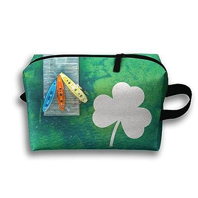 Irish Distressed Shamrocks Travel Bag Multifunction Portable Toiletry Bag Organizer Storage