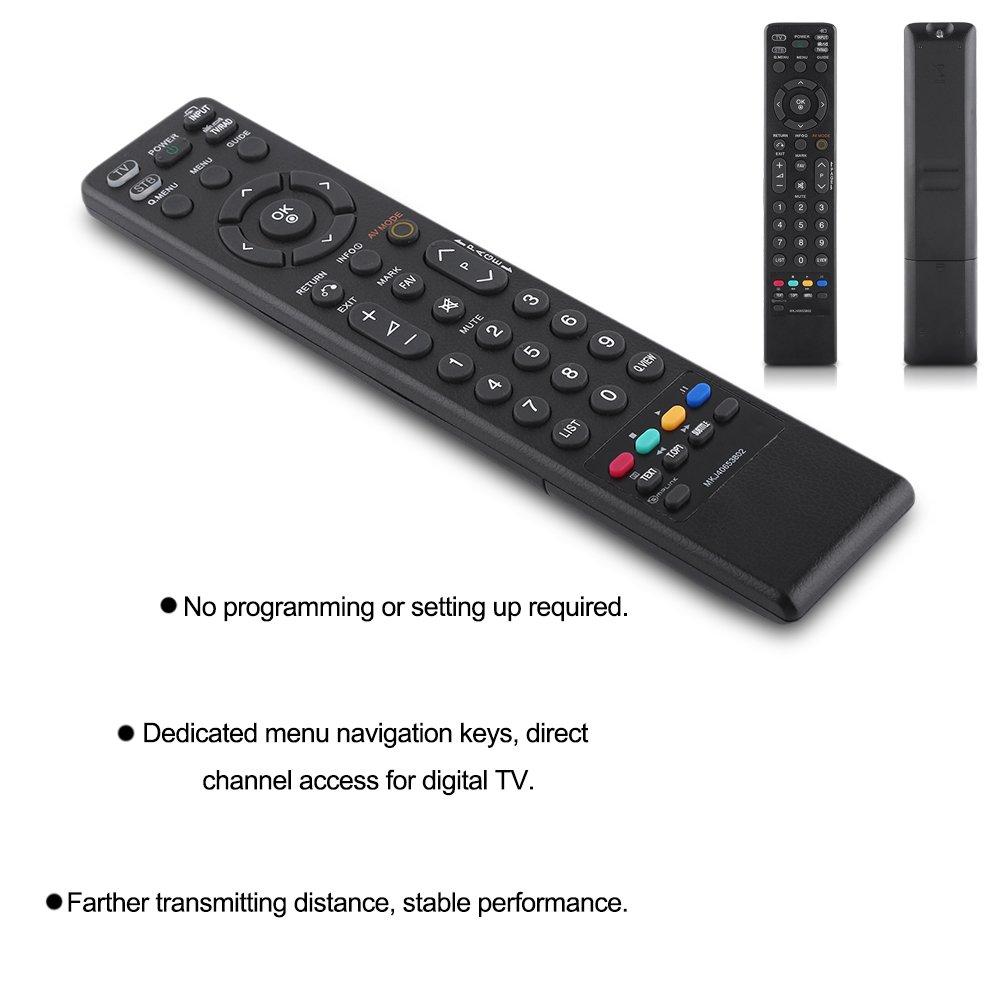 Geringer Stromverbrauch Hakeeta Fernbedienung Universalfernbedienung TV Controller Ersatz f/ür LG MKJ40653802 Einfache Bedienung kompakte Fernbedienung