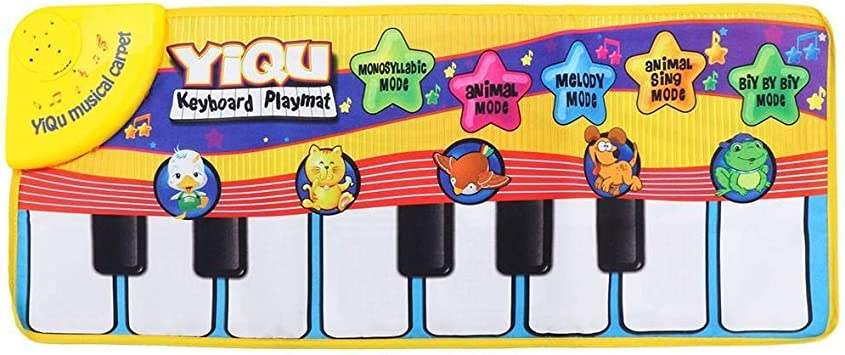 Piano Playing Toy With Funny Music Animal Sound Crawling Mat Bay Kids 72*29cm