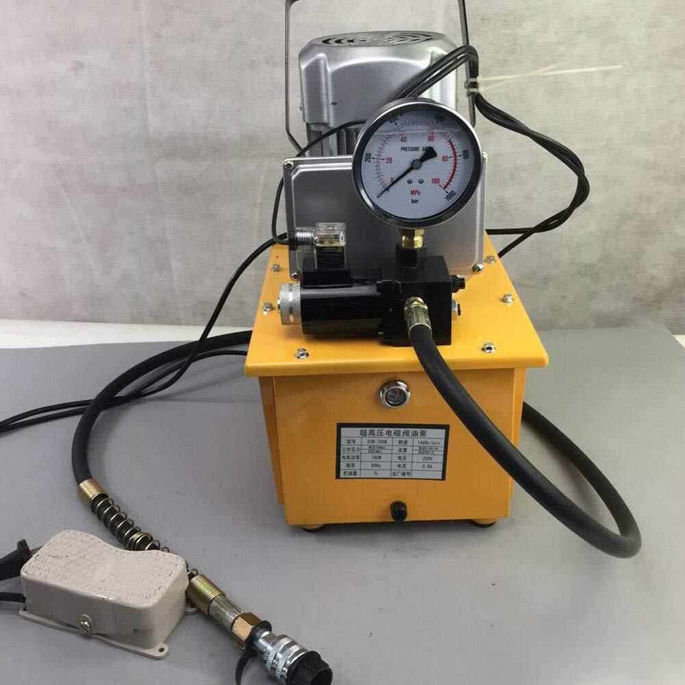 Electric Hydraulic Pump Single Acting Solenoid Valve Pedal Switch Electric Driven Hydraulic Pump Pedal Solenoid Valve Control equipments 70MPA 110V 10000 PSI