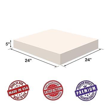 "Tapicería foam-square cojín hoja – Regular densidad 5 ""x24"" x24 """