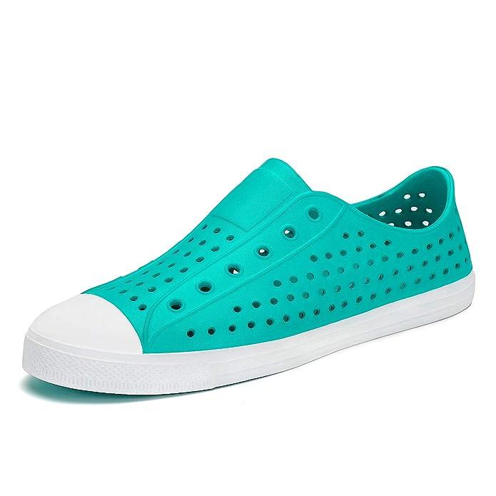Mens Womens Sneaker Breathable Slip On Lightweight Garden Clogs Outdoor Beach Water Shoes Green 8 M US Women / 6.5 M US Men