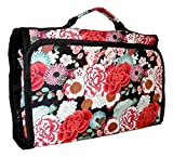 Hanging Toiletry Cosmetic Organizer Bag - Roll up for Storage Travel Back to School (Garden Floral)