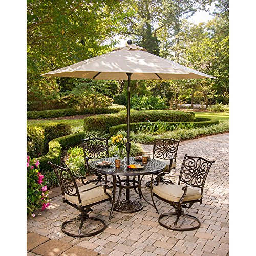 Hanover Traditions Patio Dining Set (5-Piece) Aluminum/Tan TRADITIONS5PCSW-SU