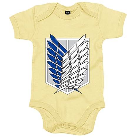 Body bebé Ataque a los Titanes Attack on Titan escudo Legión de Reconocimiento - Amarillo,
