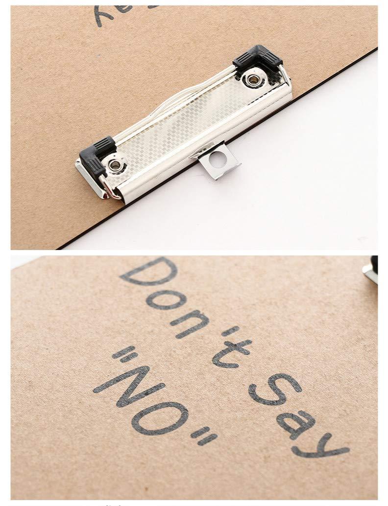 YLLY A4 Kraft Paper Clipboard Animal File Form Holder Document Paper Organizer