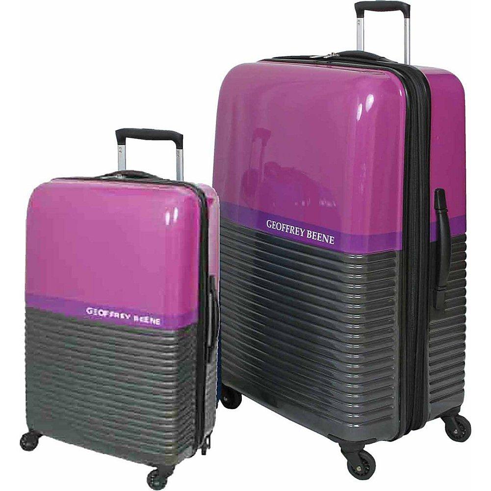 Geoffrey Beene Luggage Ultra Lightweight 2 Piece Hardside Set (Purple)