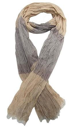 Générique Foulard, chèche écharpe pour homme camel et gris 180 x 60 ... d3d7d3ea2fc