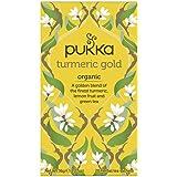 Pukka Turmeric Gold, Organic Herbal Tea with Lemon & Whole Leaf Green Tea, 20 Tea Bags