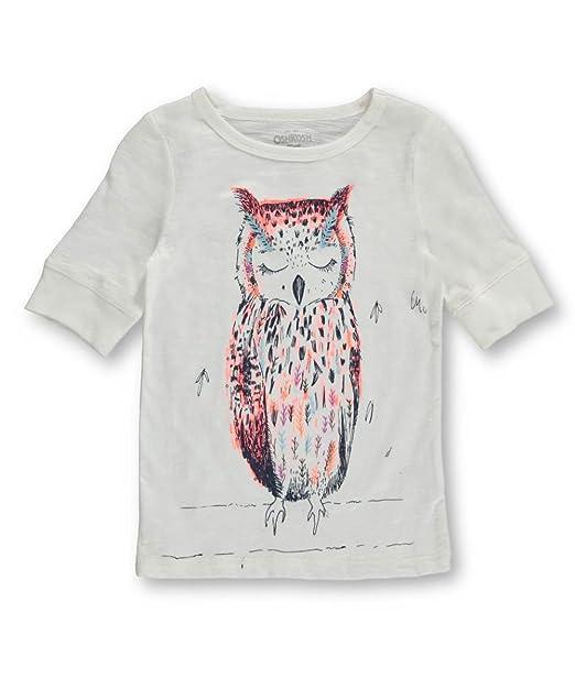 b8d02ac20 OshKosh B' Gosh - Camiseta de manga corta - para niña marfil crema ...