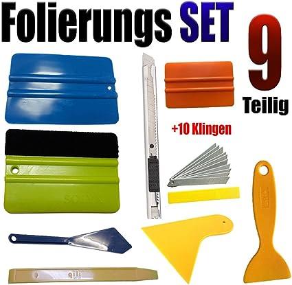 Werkzeug Set 9-teilig für Auto bekleben Folie Aufkleber Autofolie TOP WERKZEUG