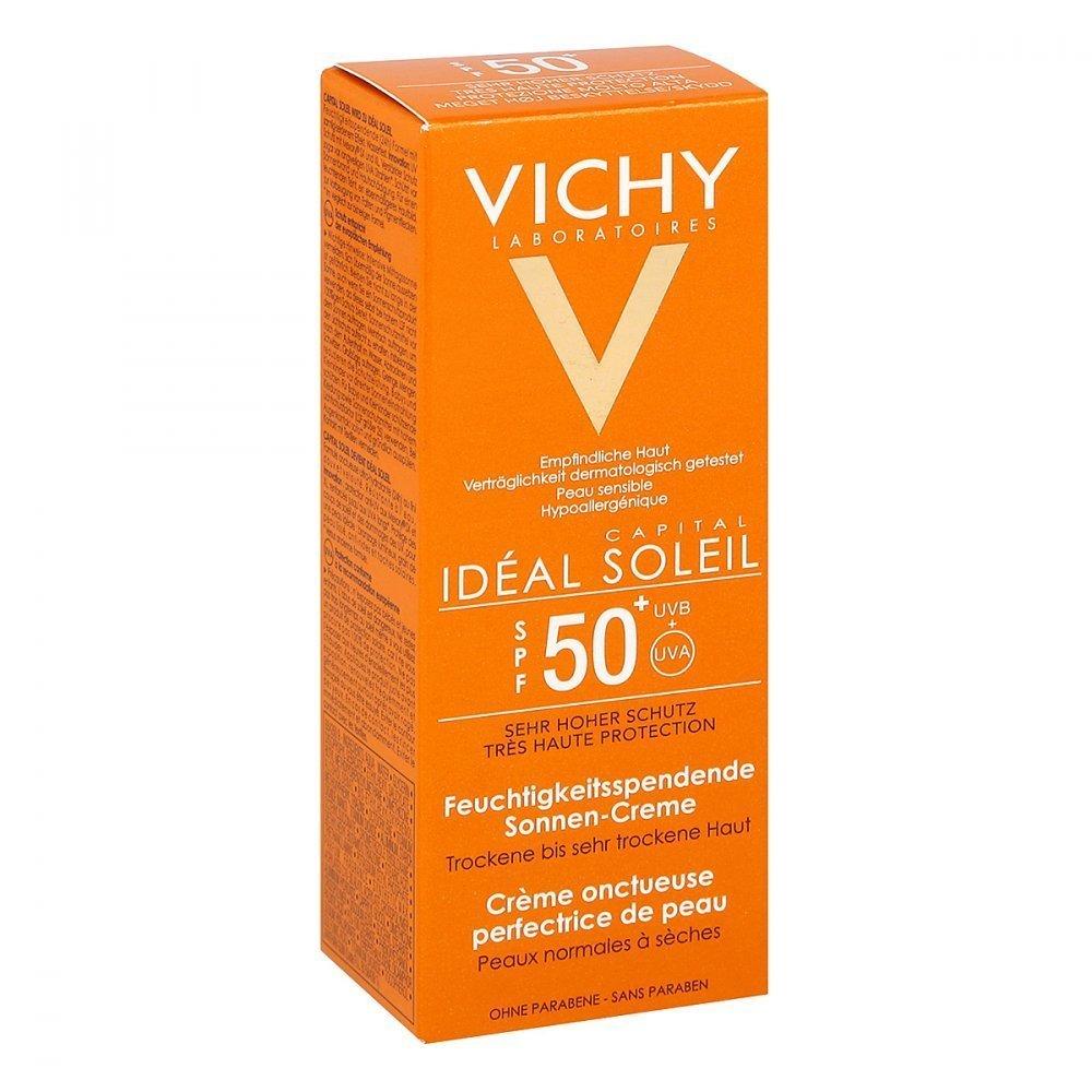 VICHY Idéal Soleil, Crema solare vellutata perfezionatrice della pelle SPF 50+, 50 ml 165916.3 VCH923128401