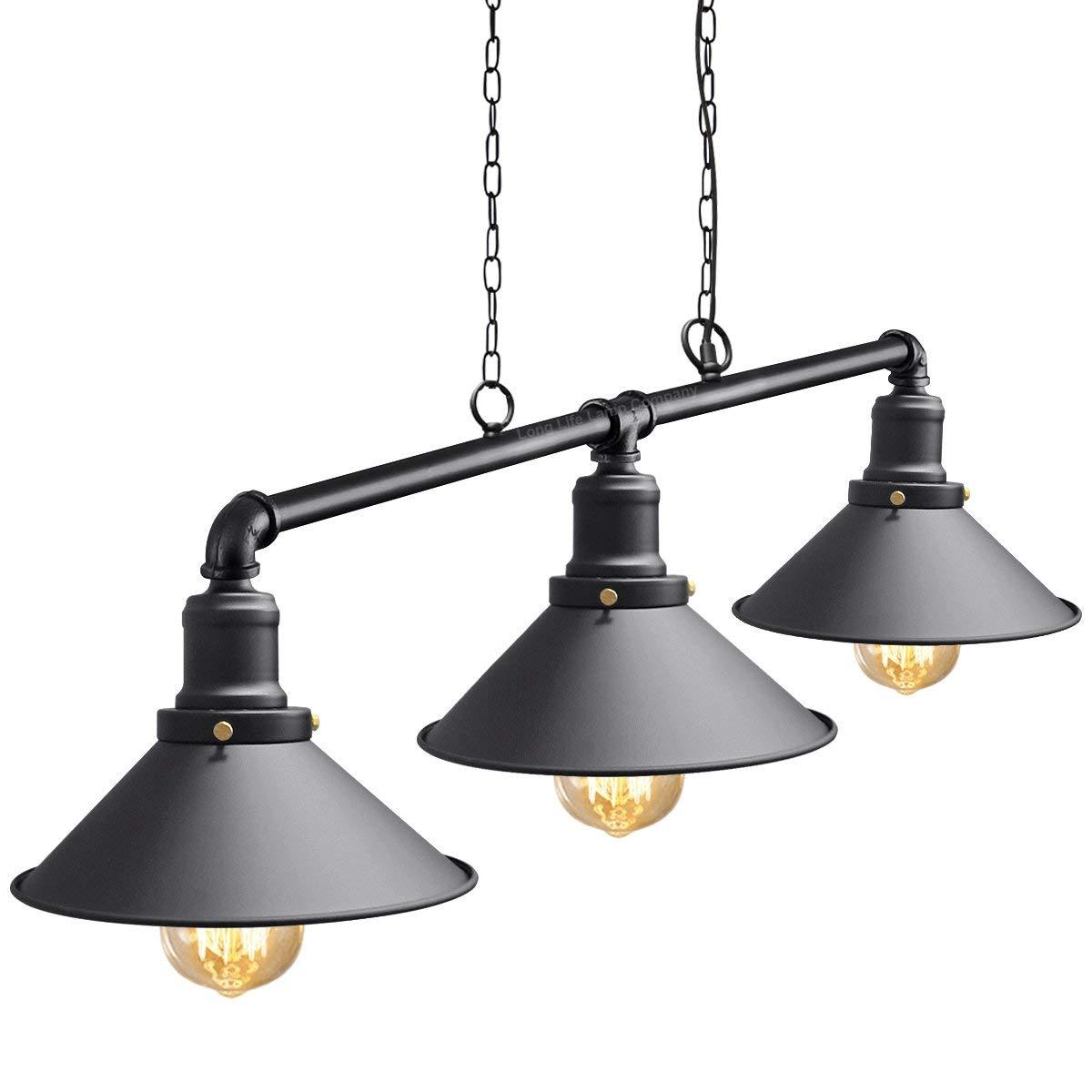 Lámpara colgante vintage ALIYAYA, lámpara de metal industrial ...