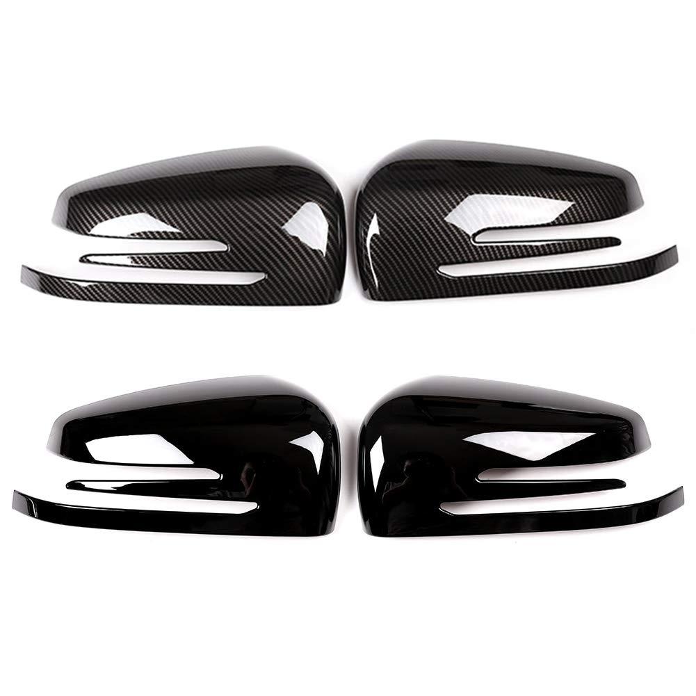 Dogggy 2 x Copertura in Fibra di Carbonio ABS Cromato Porta Laterale specchietto retrovisore per Mercedes Benz a cla gla Classe glk w176 w117 x156 x204