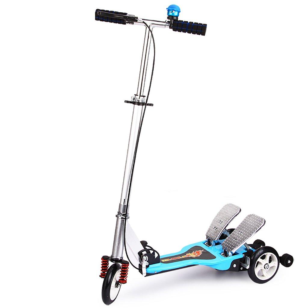 YONGLIANG : B07BPVCXN2 ダブルトレッドミル子供用スクーター折りたたみ式5-6-14歳赤ちゃん折りたたみ式ベビーベビーカー (色 青 : 青) B07BPVCXN2 青, 瀬戸内町:62b1d351 --- integralved.hu