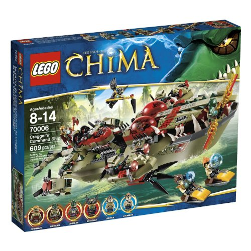 משחק לגו- LEGO Chima Cragger Command Ship 70006