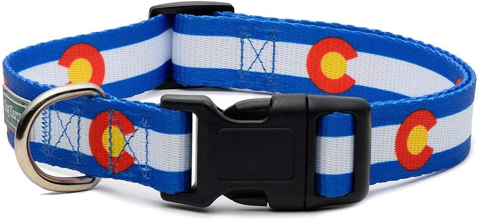 Colorado State Flag Dog Collar Blue (Large)