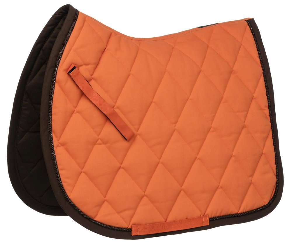EQUITHEME Tapis Challenge Couleurs Poney Taille Equipement Cheval Orange//Choco