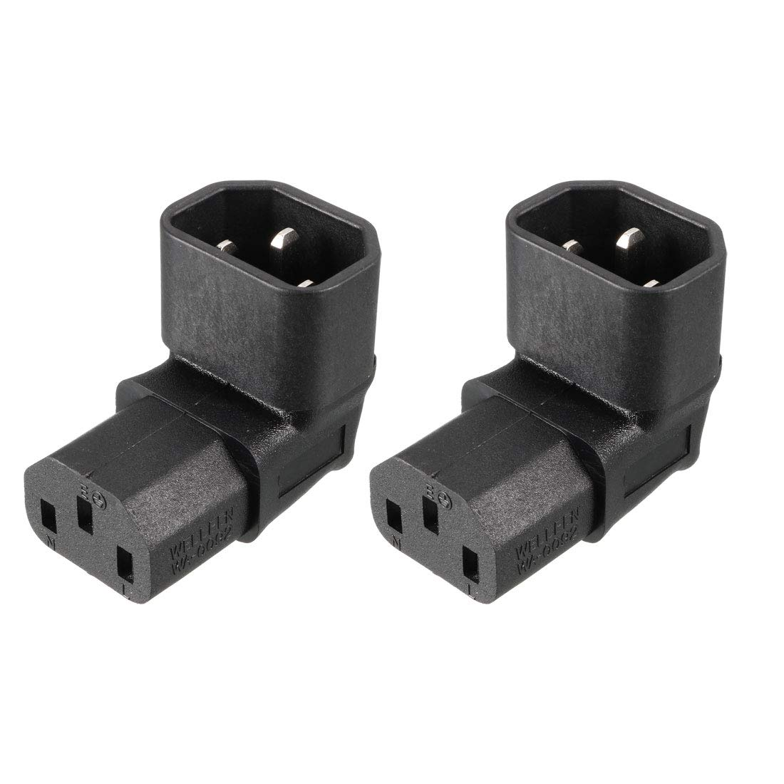 uxcell AC125V AC250V 10A IEC320 Male C14 to Female C7 Power Socket Adapter