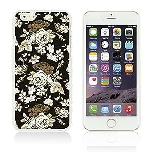 OnlineBestDigitalTM - Flower Pattern Hardback Case for Apple iPhone 6 Plus (5.5 inch) Smartphone - Vintage Roses