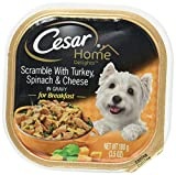 CESAR HOME DELIGHTS Scramble With Turkey, Spinach and Cheese Wet Dog Food Trays 3.5 Ounces (Pack of 24) For Sale