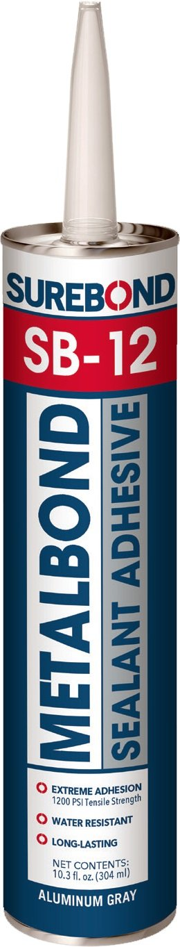 Metal Bond, 10.3 fl. oz. Cartridge SUREBOND SB-12 T GRAY